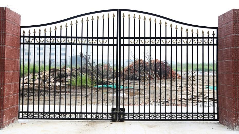 固格澜栅锌钢围墙大门 锌钢大门防护门 庭院单开大门