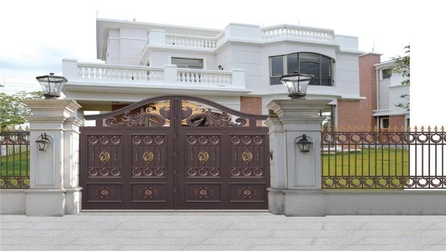 别墅铝艺围墙大门安装好之后的保养方法
