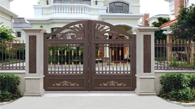 别墅铝艺大门和门柱之间的关系