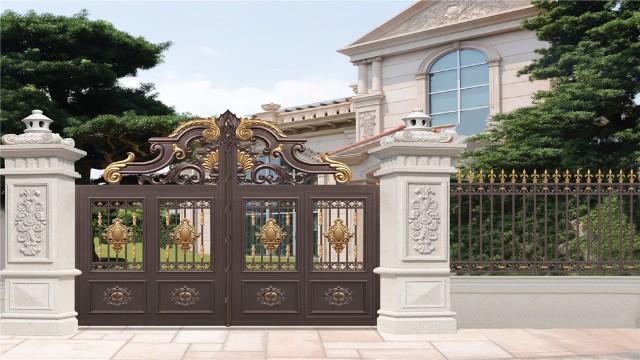 铝艺别墅大门,外观精致大气,看过的人都赞不绝口