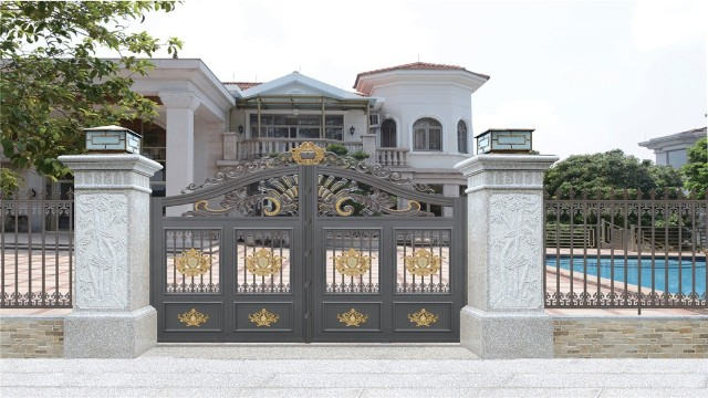 铝艺围墙庭院大门的制作过程