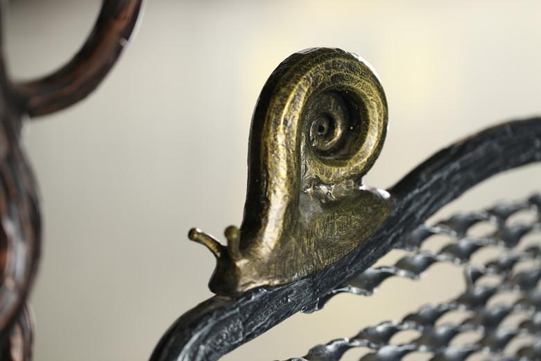 固格澜栅铁艺大门蜗牛实图