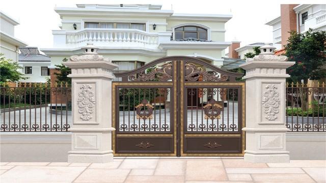 别墅庭院围墙大门该怎样选择?