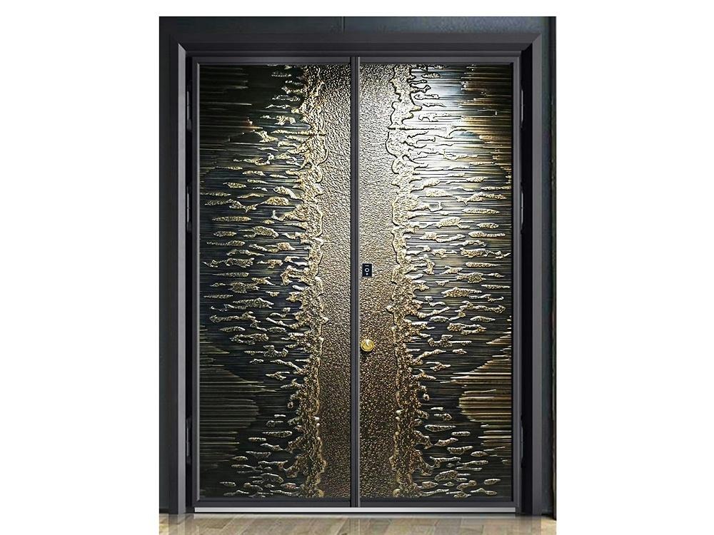 别墅庭院铸铝进户门