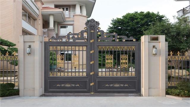 别墅铝艺围墙大门的描金是怎样进行的?