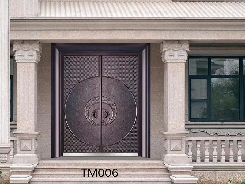 别墅进户铜门