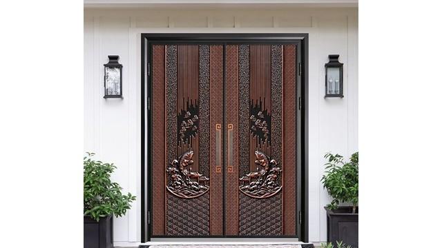 别墅铸铝防爆门和铜门的优缺点