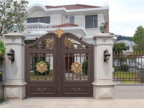 别墅铝艺围墙大门