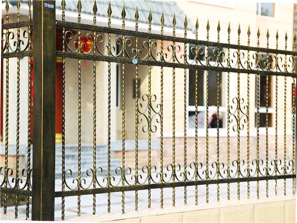 别墅铁艺围墙护栏6