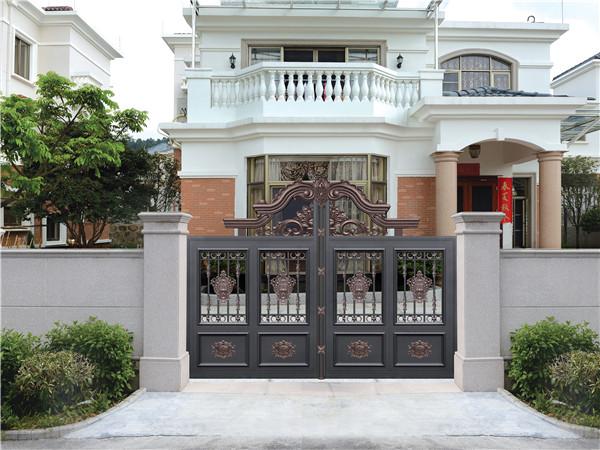 别墅围墙铝艺大门