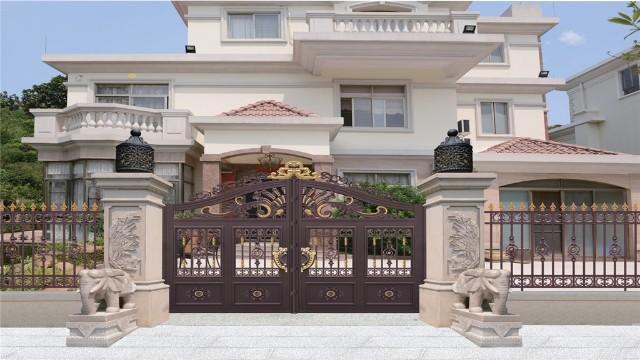 别墅庭院铝艺大门,看到的人都会喜欢