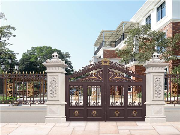 别墅庭院铝艺围墙大门