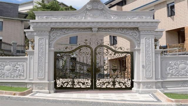 铁艺围墙庭院大门——复古风格别墅的首选大门