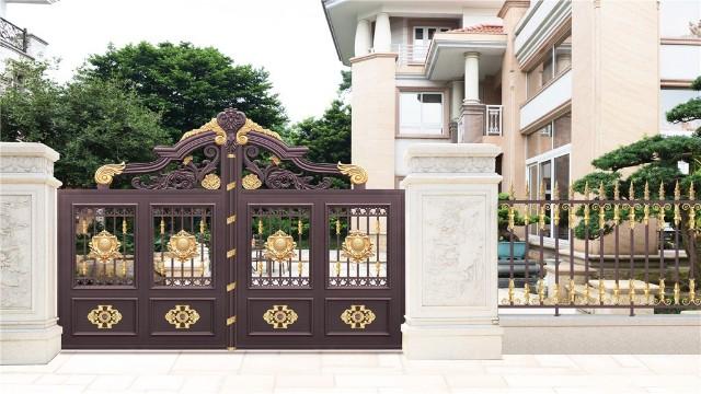 别墅铝艺庭院围墙大门的保养方法