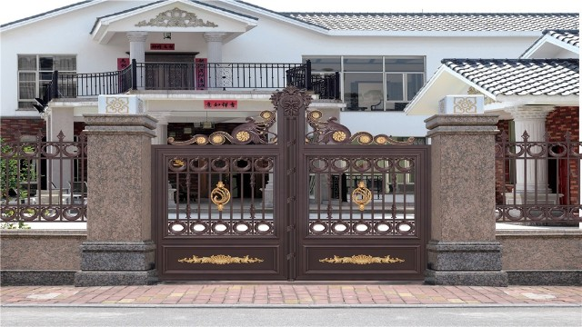 庭院围墙大门这样的视觉效果,真让人惊艳