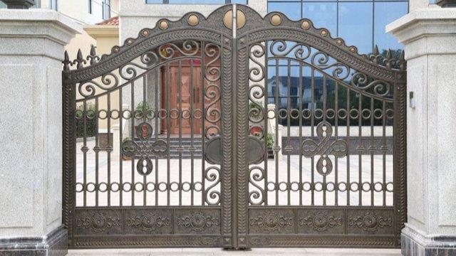 铝艺别墅围墙大门的质量,这样鉴定才正确