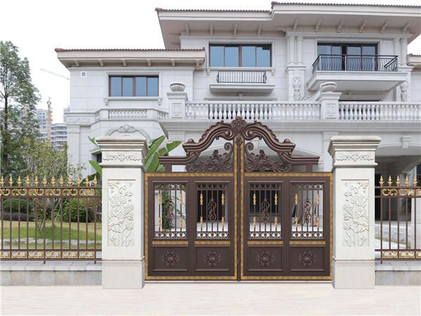 别墅庭院铝艺大门
