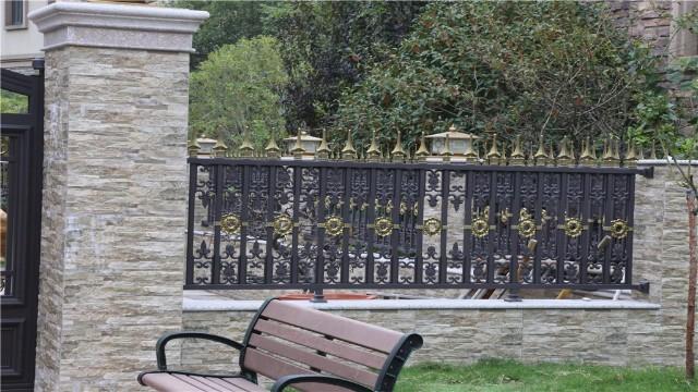 别墅铝艺庭院护栏集美观实用与一体