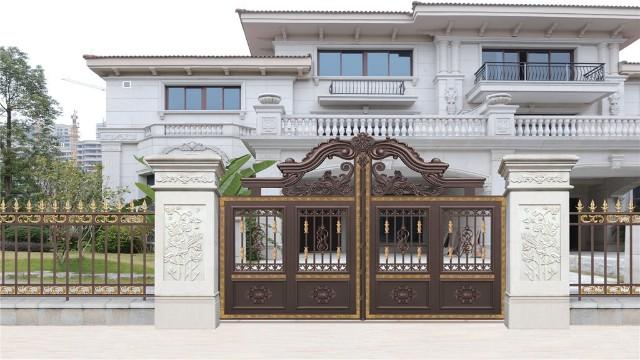 别墅铝艺庭院大门有什么吸引人的地方?