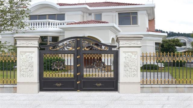 关于订购好看的别墅围墙铝艺大门的小知识