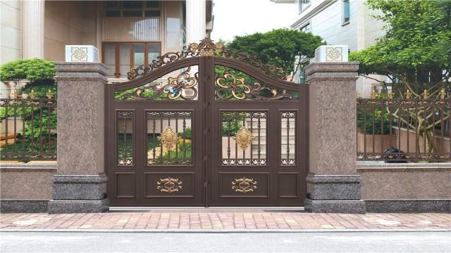 别墅庭院围墙大门用了这么多年不掉漆的原因是因为这个