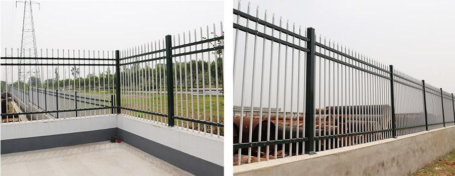 国家电网三横杆锌钢围墙护栏案例!