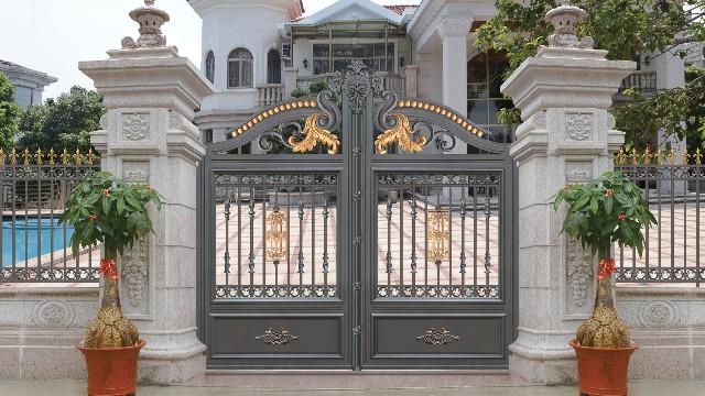 铝艺别墅大门为什么吸引人呢?