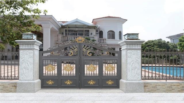 别墅铝艺庭院大门的清洁方法