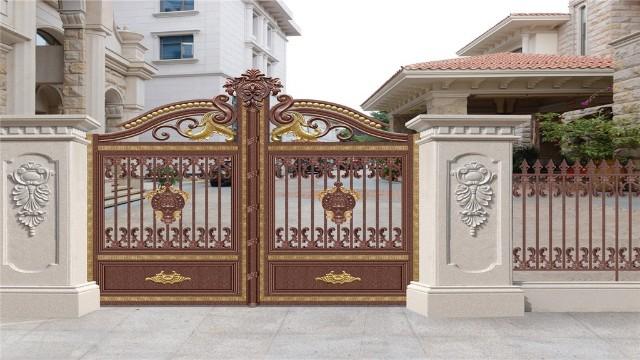 铝艺庭院围墙大门的保养离不开日常生活中的使用