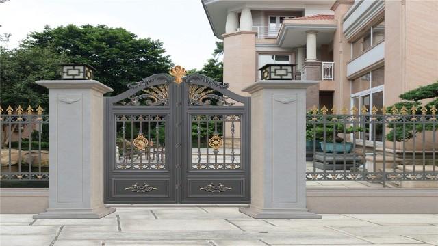 别墅铝艺庭院大门的搭配方法?