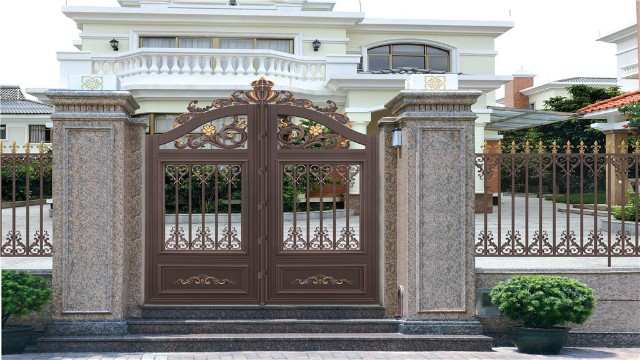 别墅铝艺围墙大门的制作过程是什么样的?