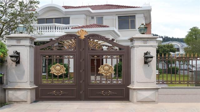 铝艺别墅庭院大门比用铁艺庭院大门好的原因在哪里?