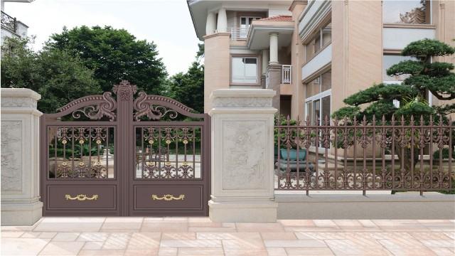 这么有排面的别墅铝艺围墙大门,有什么理由不选它呢?