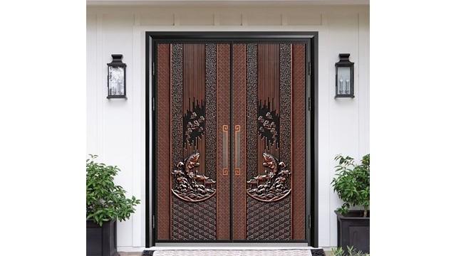 实木背板别墅进户铸铝门的材质结构你了解吗?