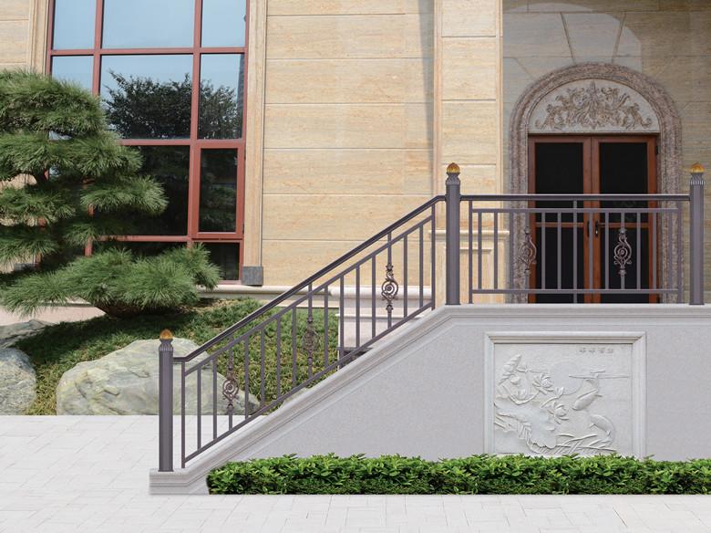 别墅铝艺楼梯扶手