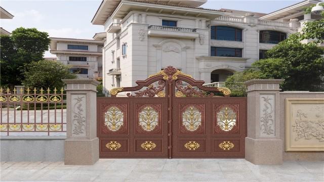 别墅庭院大门是铝艺的好还是铁艺的好?