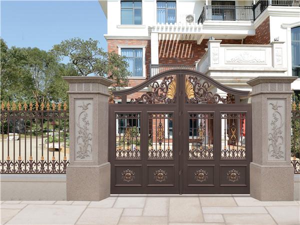 别墅庭院围墙铝艺大门