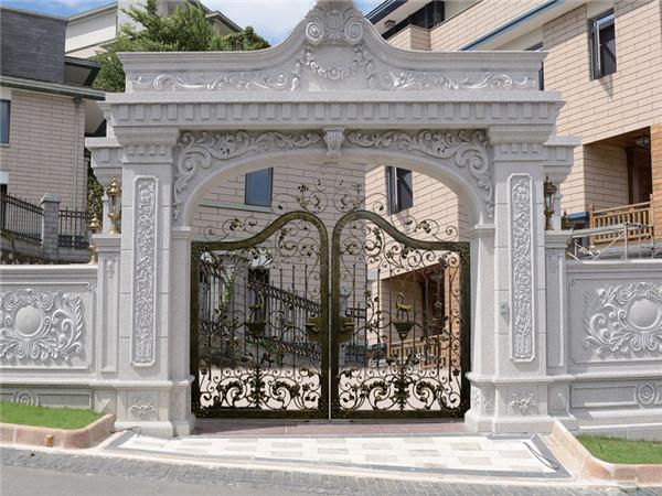 别墅围墙铁艺庭院大门