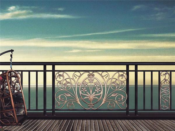 别墅铝艺阳台护栏