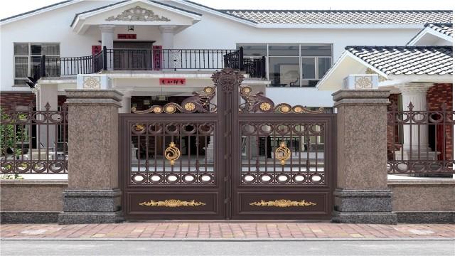 新中式庭院铝艺大门给您带来不一样的感觉